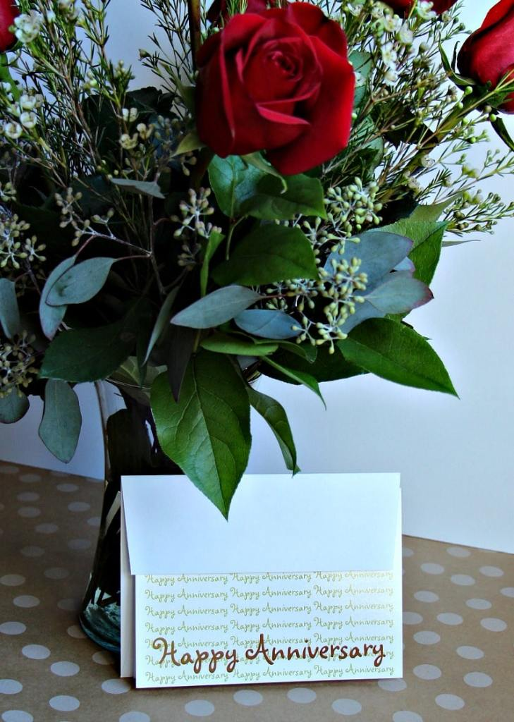 Card and Flowers
