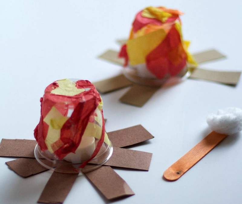 Kids Campfire Craft