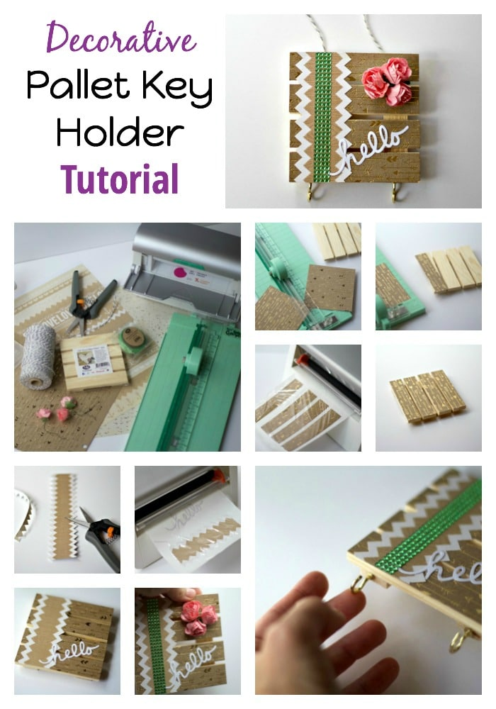 Collage Pallet Key Holder