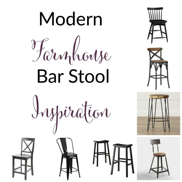 modern farmhouse inspired bar stool round up