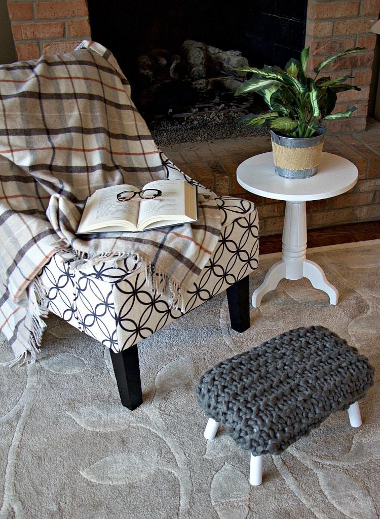 Reading Living Room Footstool