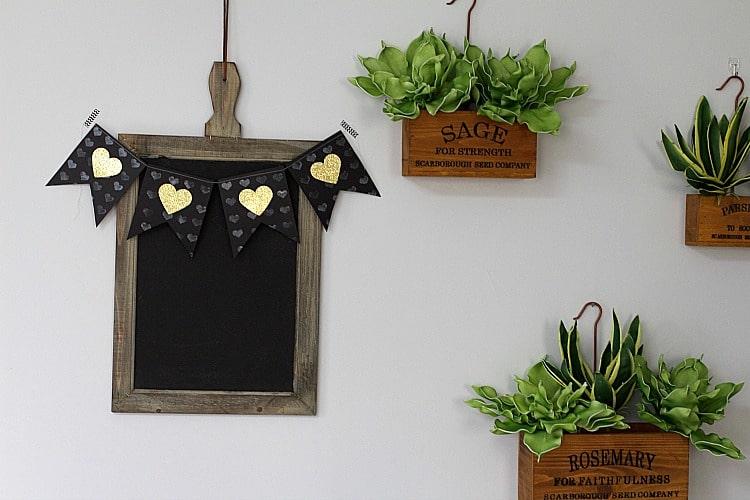 Heart of Gold Banner Embossed Home Decor