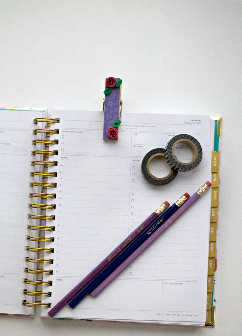 Planner Clip With Pencils