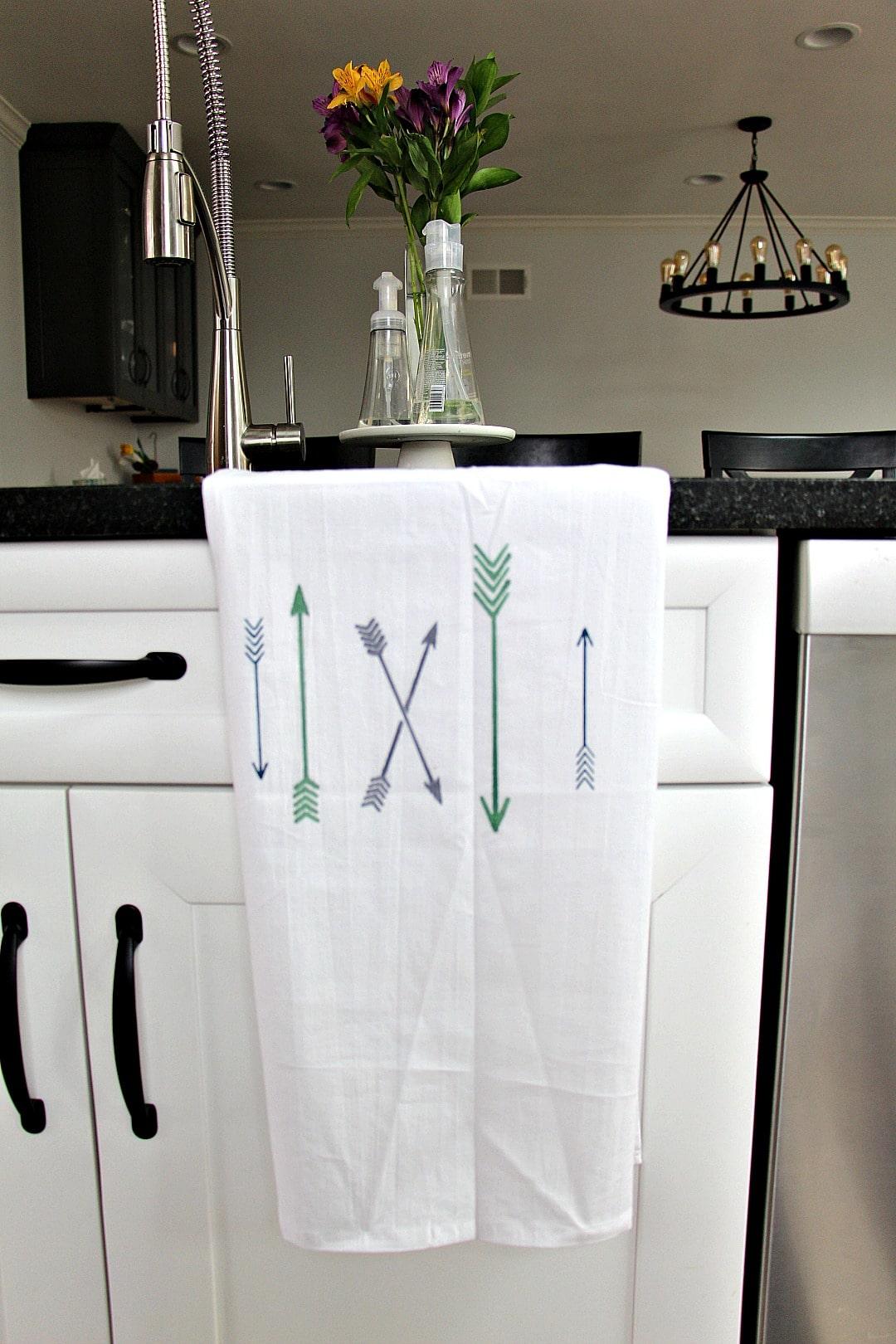 Arrow Tea Towel DIY