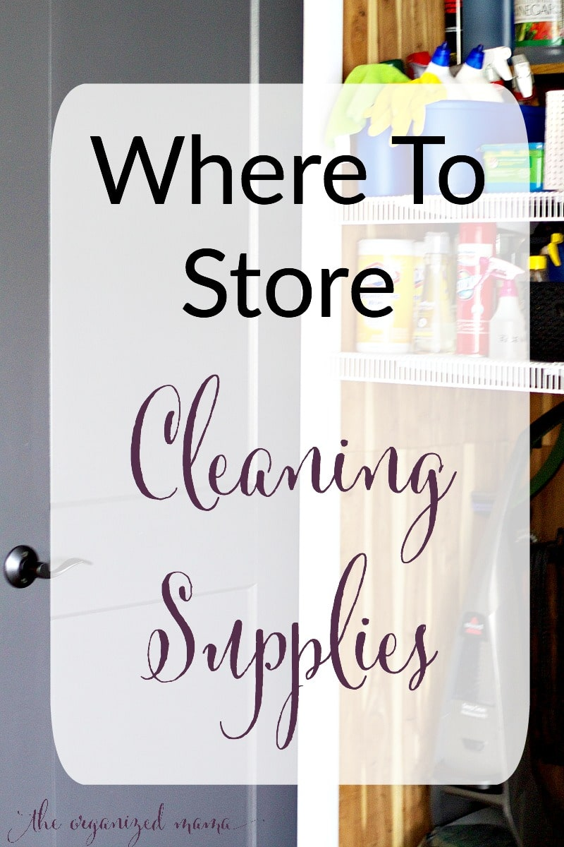 cleaning supply storage