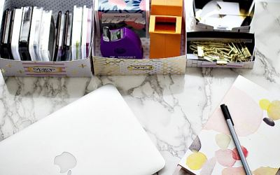 How To DIY Office Supply Organizer For Your Desk