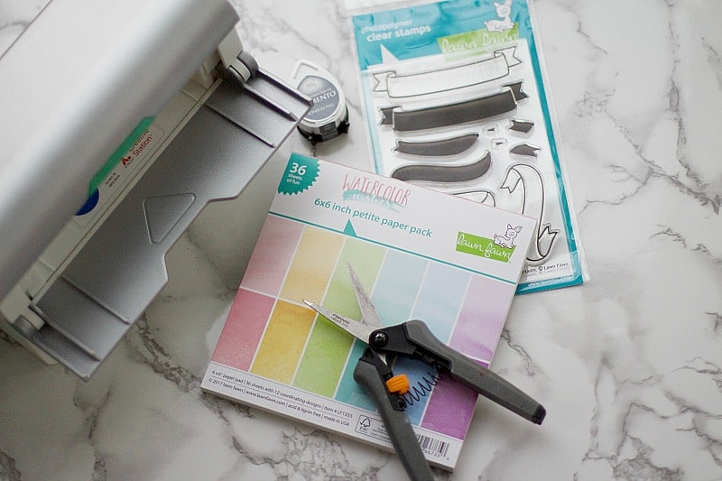 DIY decorative labels with xyron and lawn fawn