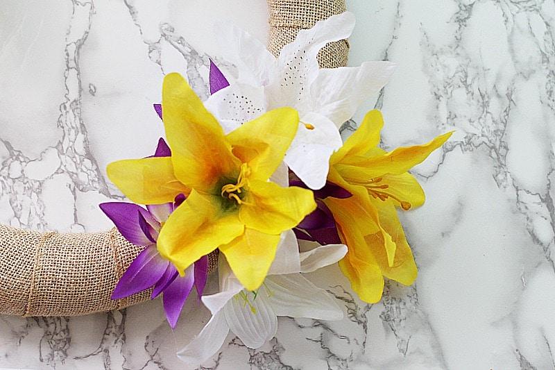 Floral Spring Wreath Craft