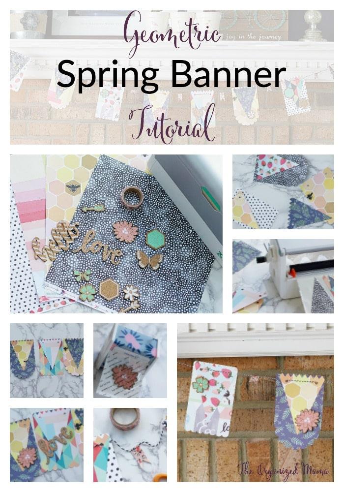 Geometric spring banner tutorial