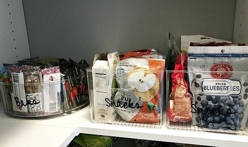 organizing a pantry