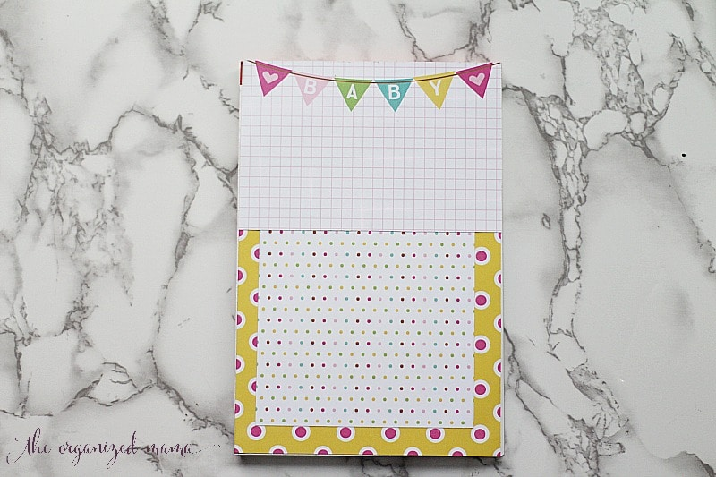 Memory Book Cover with Xyron Paper House