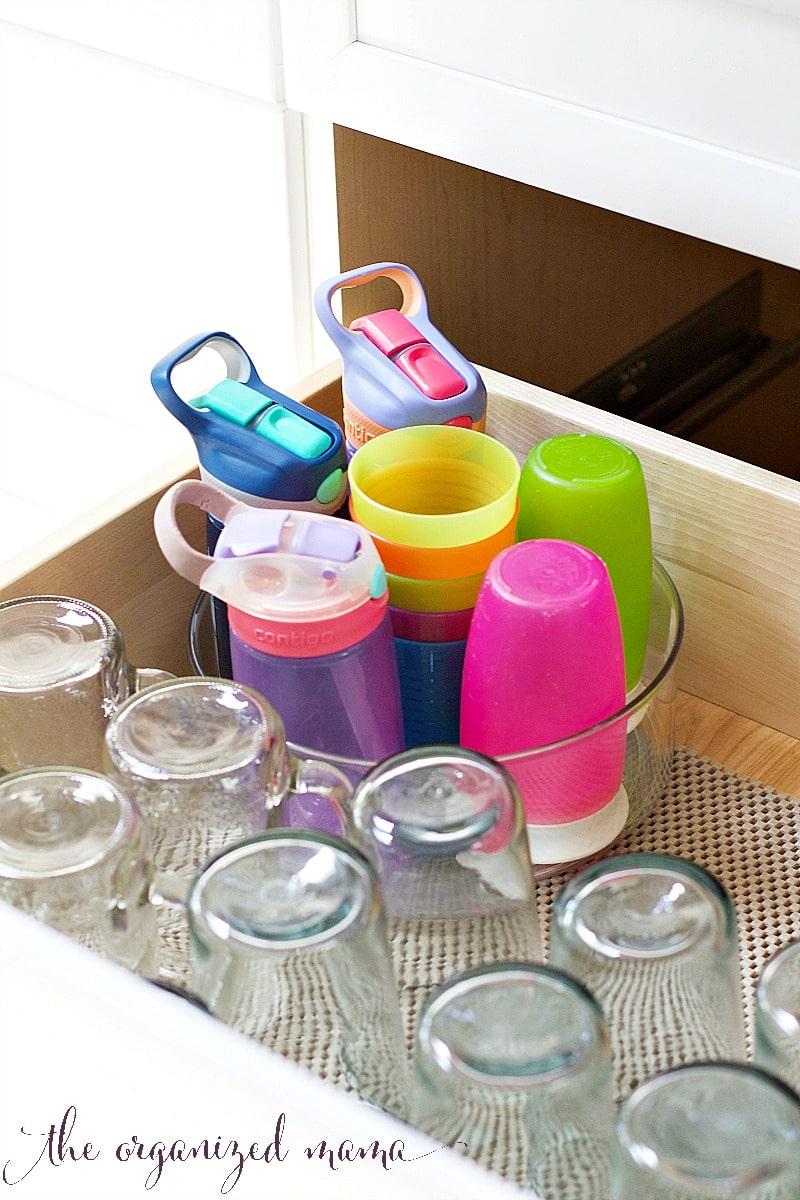 lazy susan kids utensils cups