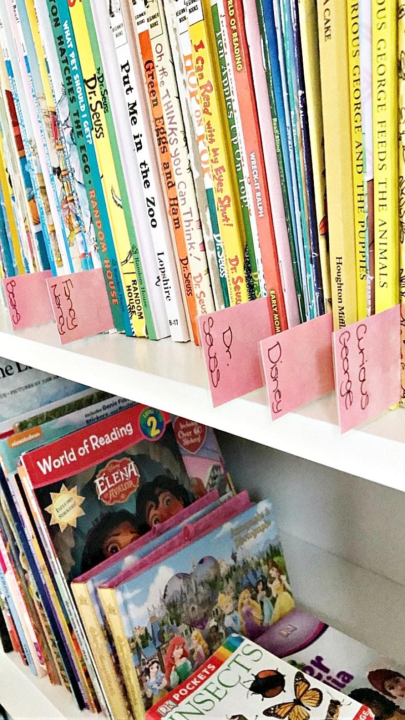 organizing books for summer