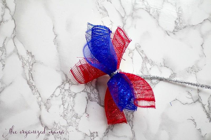 wrapping rolled deco mesh patriotic door decor dollar store