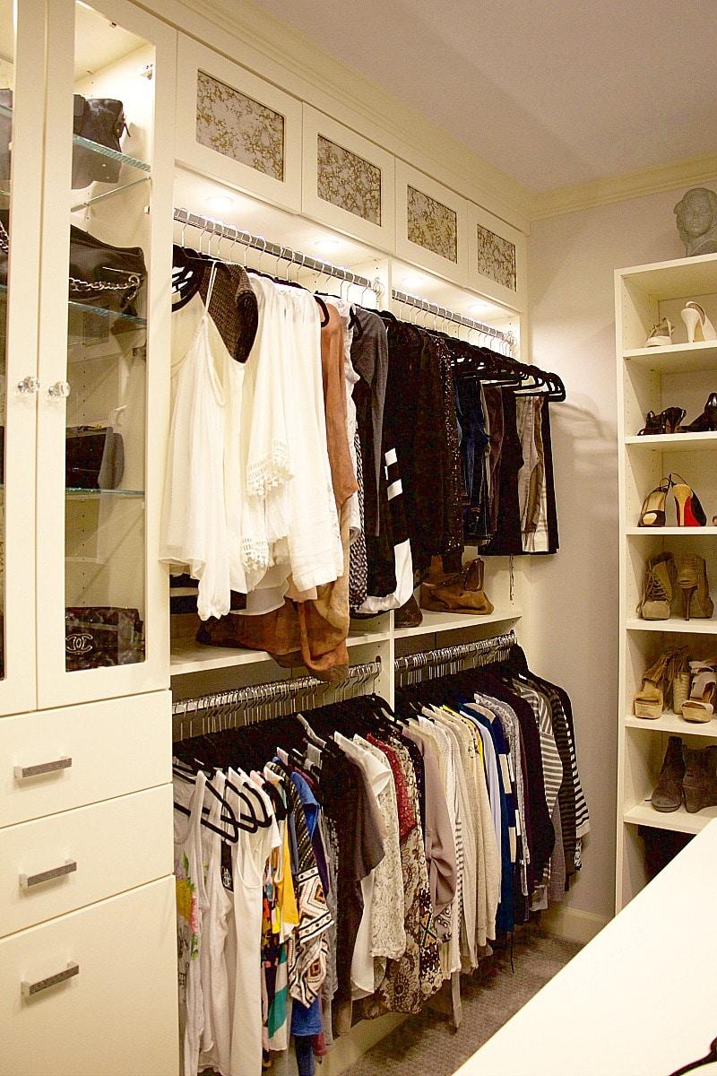 closet organization shirts