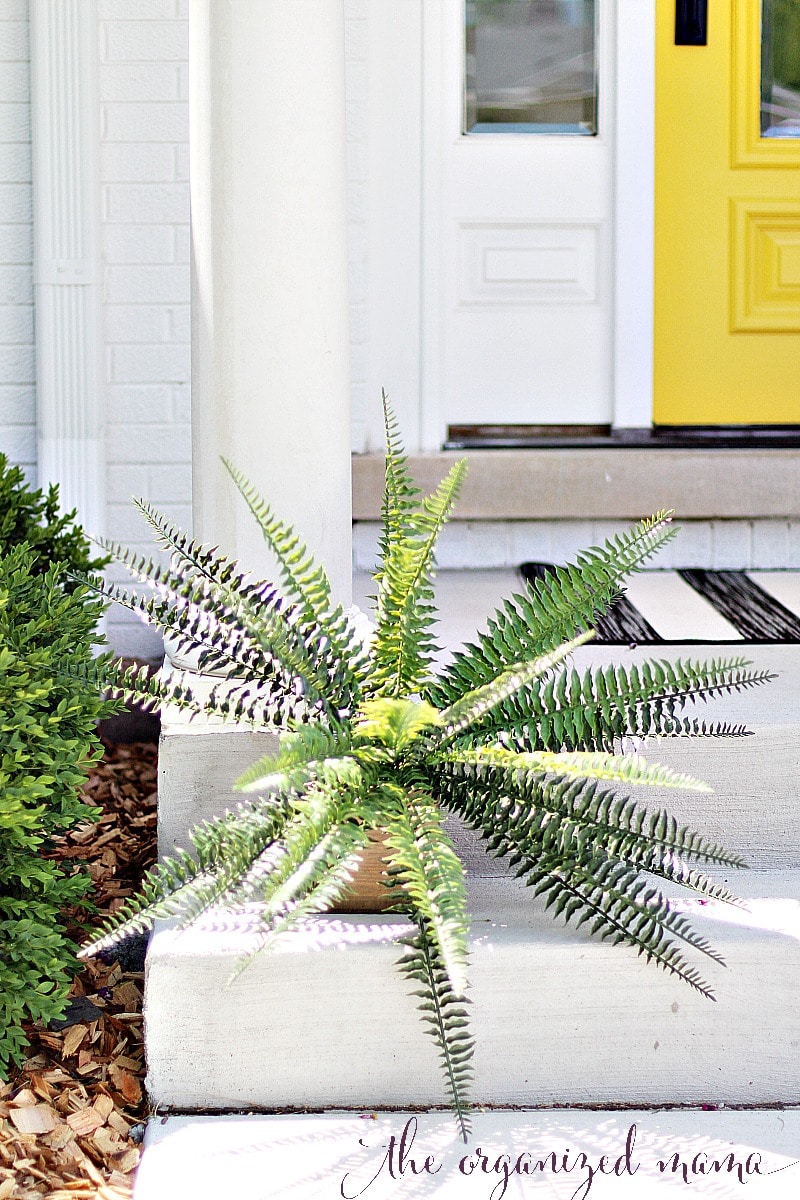 faux fern patio decorating ideas for summer