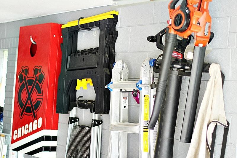 hanging tools garage organization