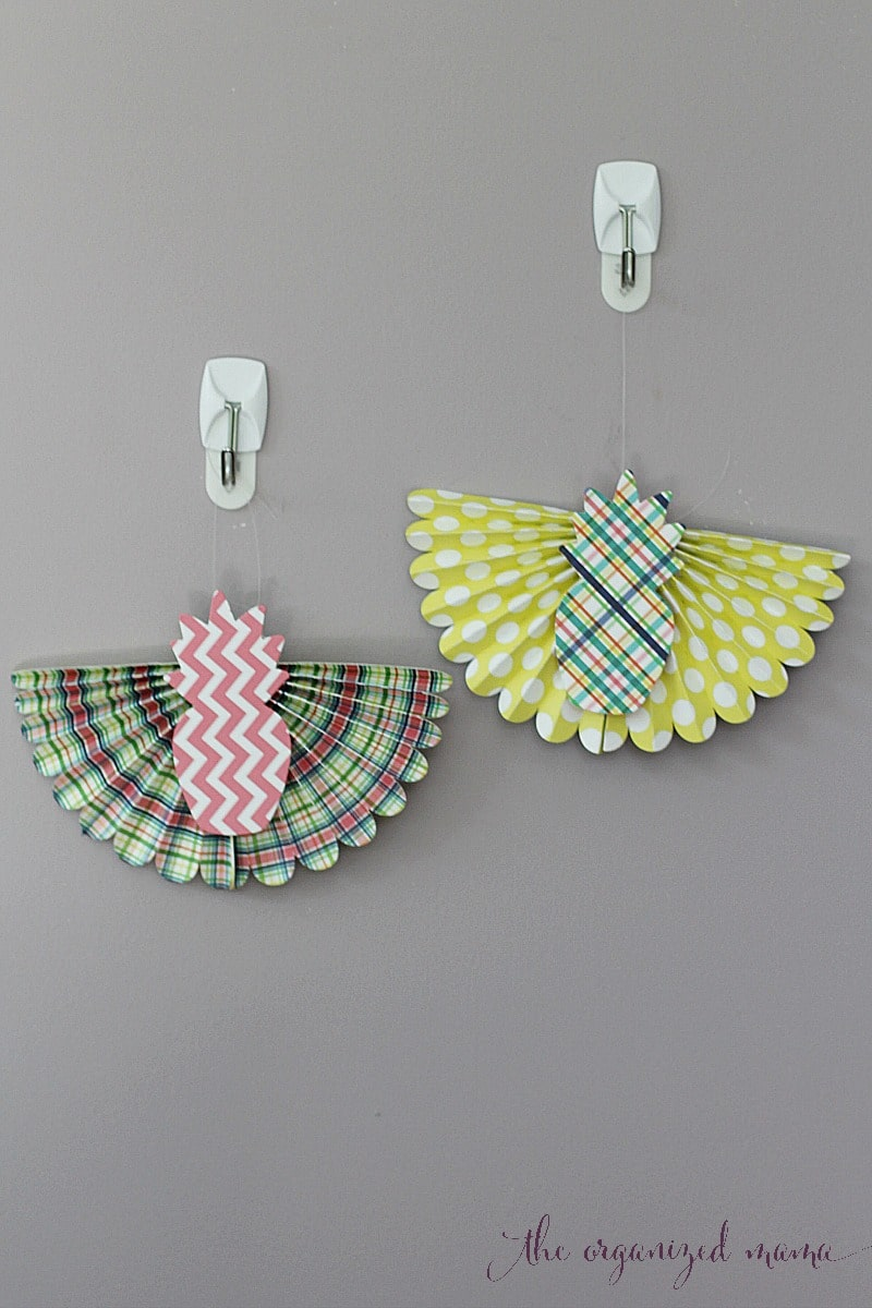 hanging paper bunting tutorial