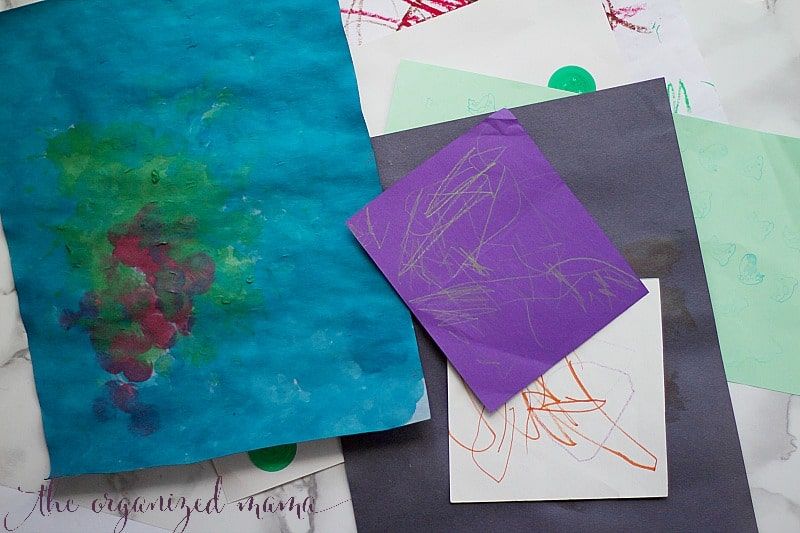 How To Organize and Store Kids' Artwork