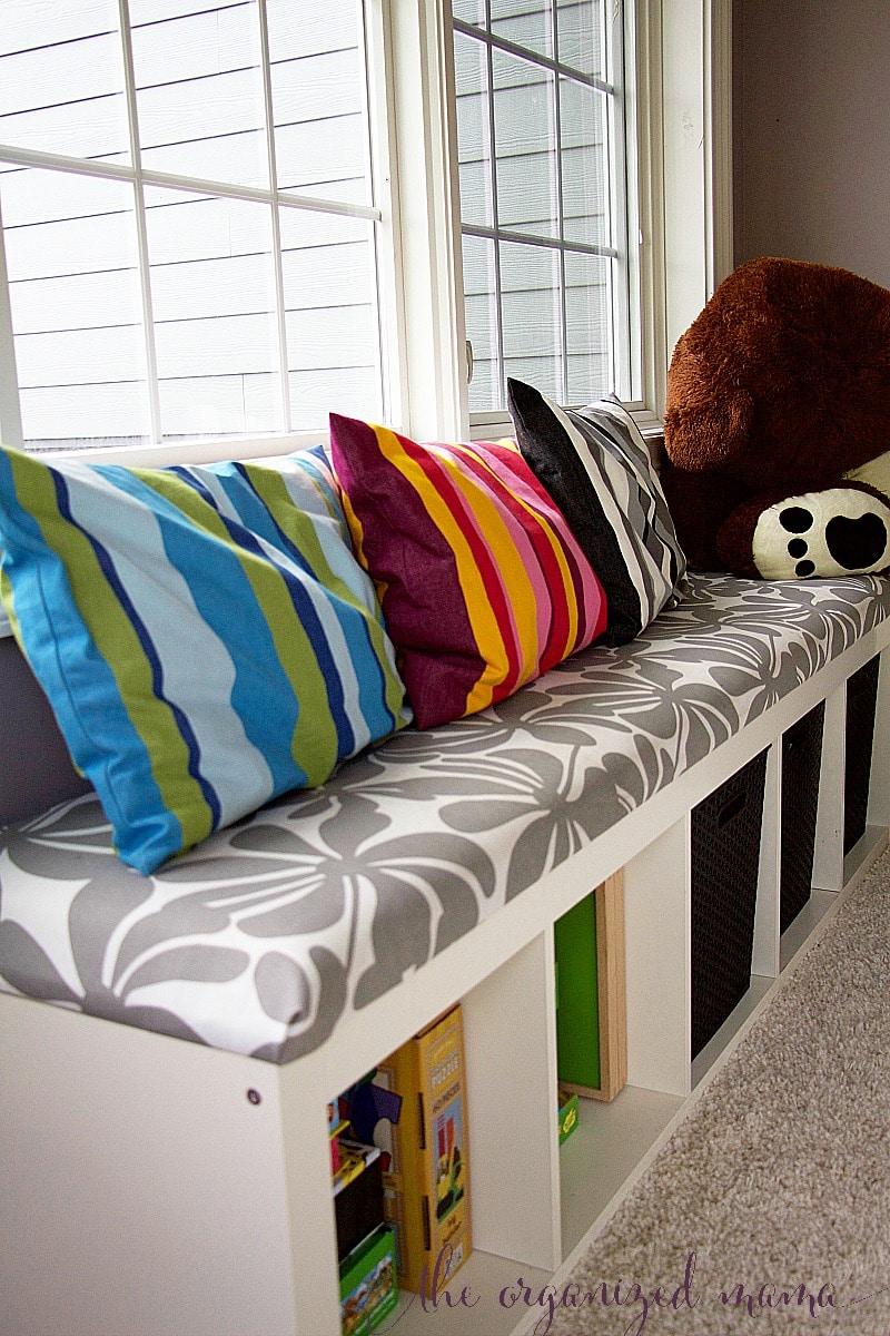 toy organizer IKEA bench tutorial