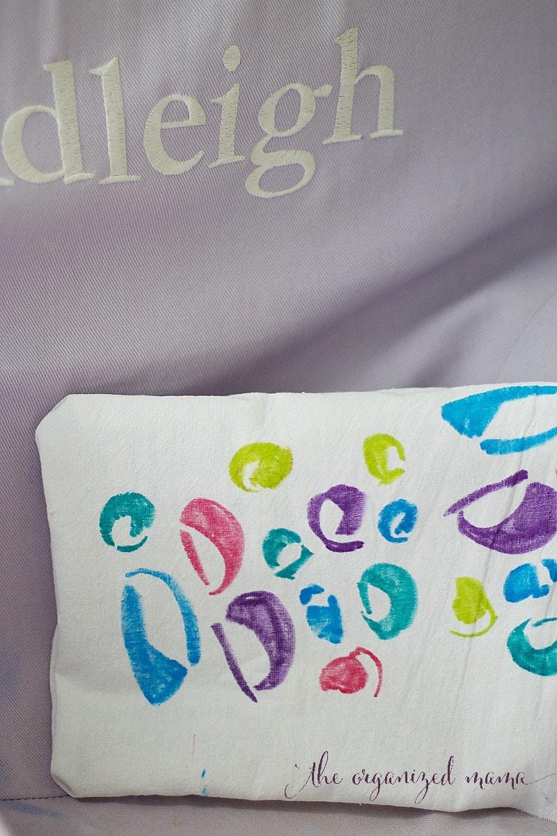 DIY stencil pillow final