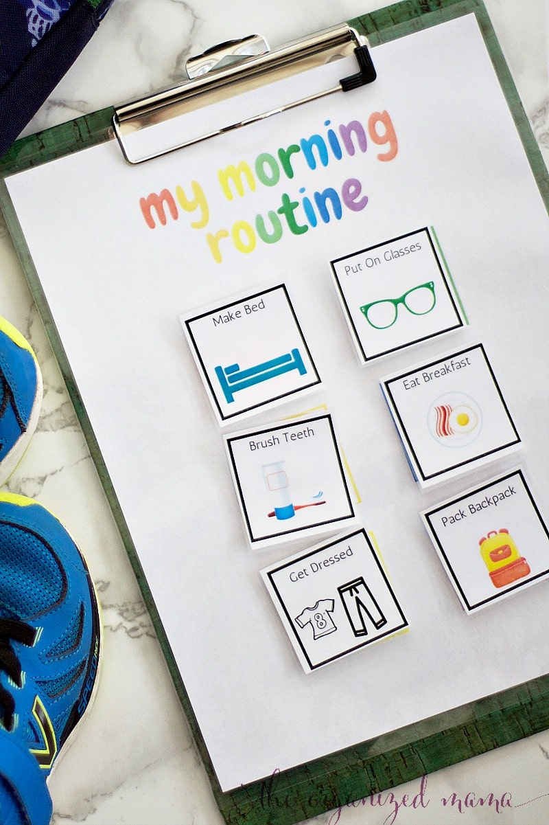 morning routine back to school checklist