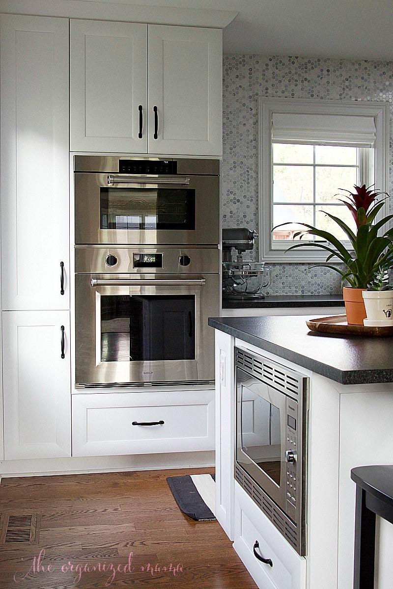 white kitchen inspiration microwave