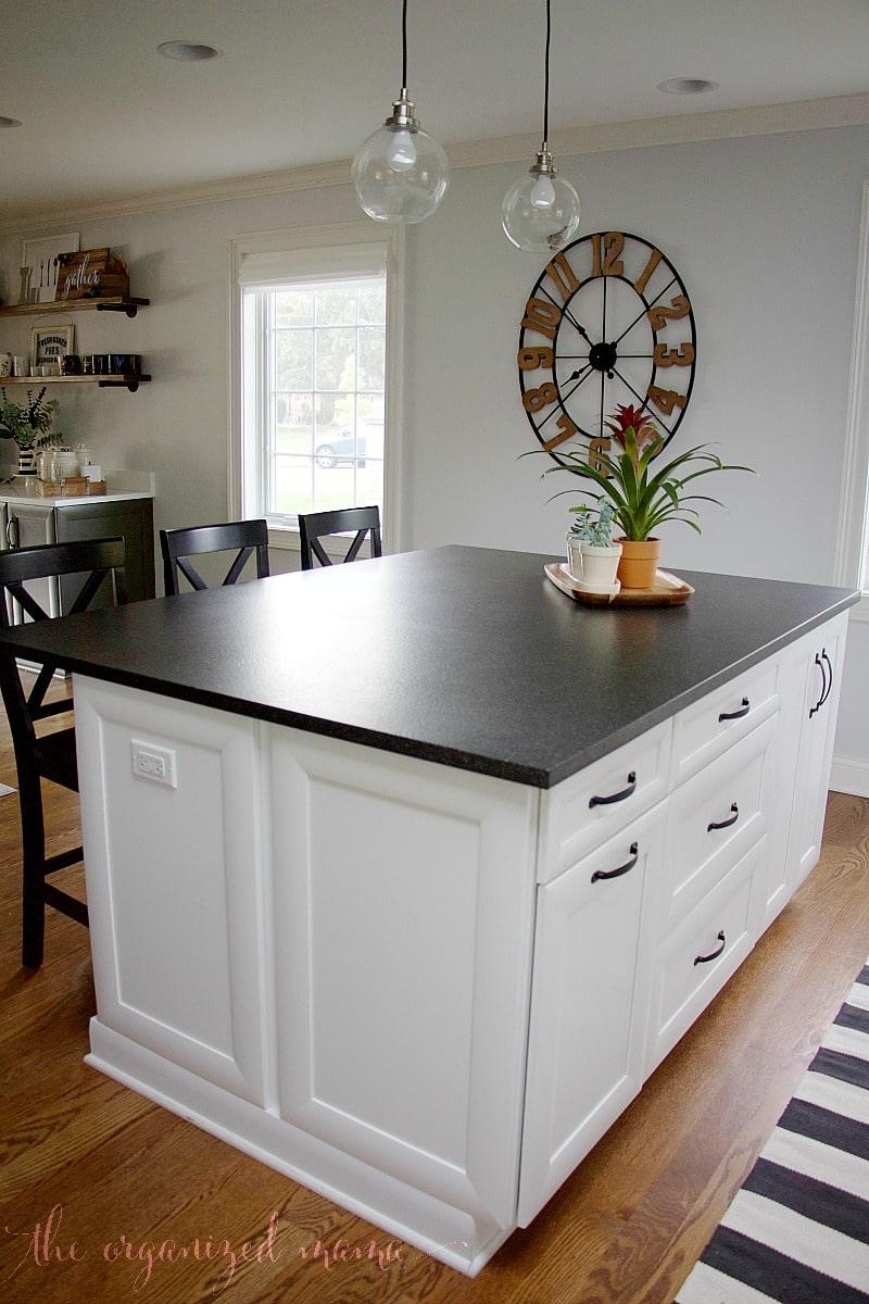 white kitchen inspiration single island