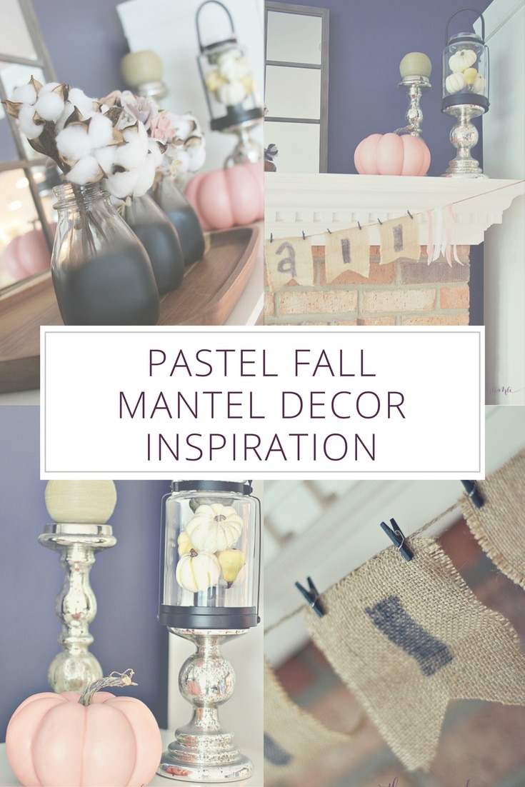 Pastel Fall Mantel Decor Inspiration