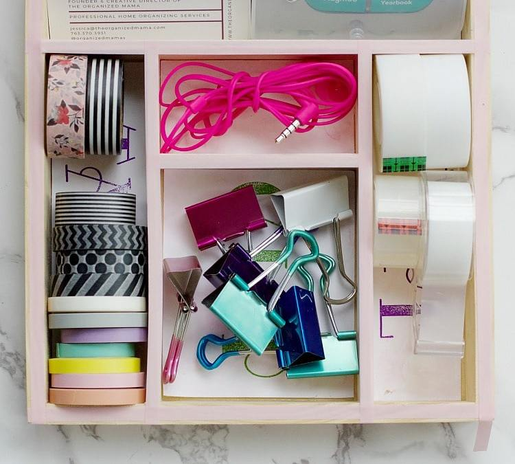 Custom Drawer Organizer Tutorial For Your Desk