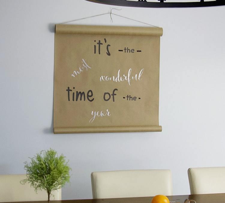 DIY Butcher Paper Holiday Wall Decor Tutorial