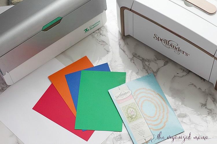 materials spellbinders custom sticker label tutorial