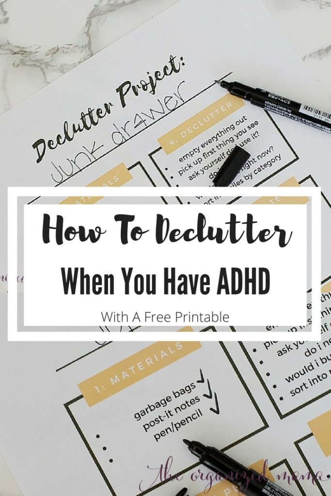 Declutter with ADHD