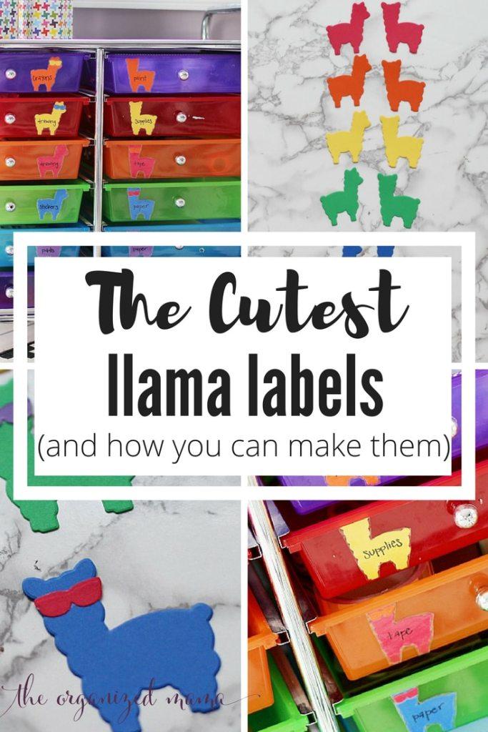 How to make the cutest llama labels in rainbow colors! #llama #labels #kidsart