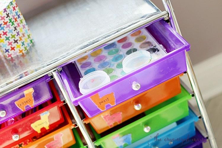 paint drawer with orange llama label