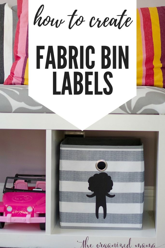 This tutorial will walk you through the steps to create fabric bin labels to keep everyone organized! #labels #organized