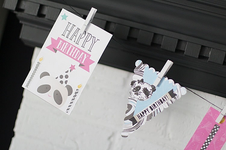 Party Like A Panda Birthday Banner Tutorial