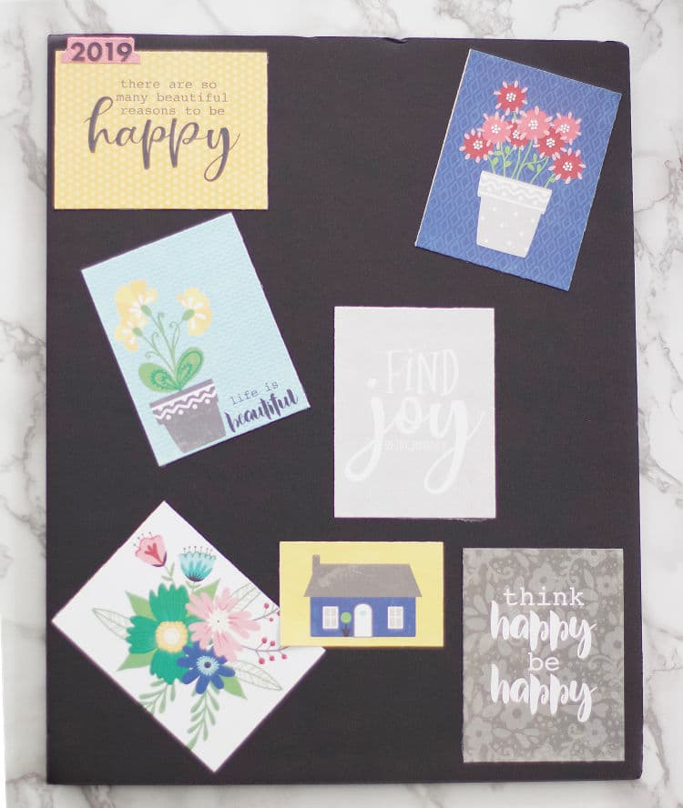There are so many ways to create a vision board, so professional organizer and amature crafter has created some vision board ideas to help inspire you! #visionboard #crafty