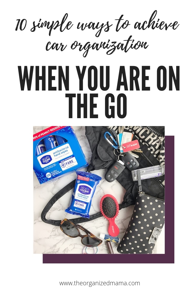 Learn how to achieve car organization when you are on the go with professional organizer, The Organized Mama. Her tips will help you get organized. #carorganization #organized
