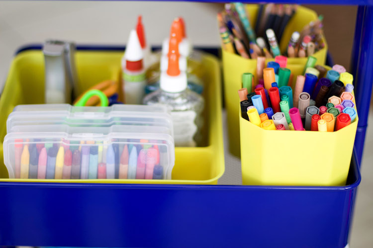 How To Make An Art Cart For Kids