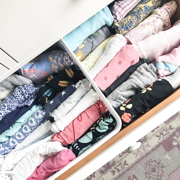 kids clothing drawer organization