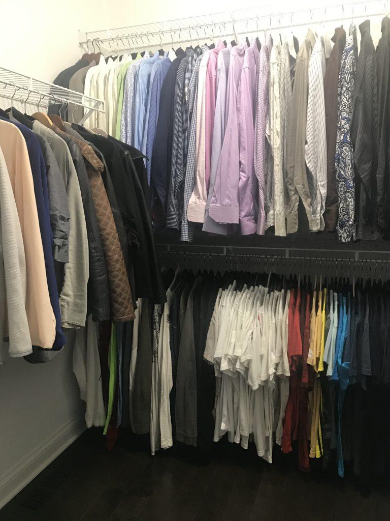 mens closet how to organize a closet
