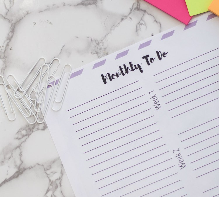 How To Stay Productive With Monthly To Do List