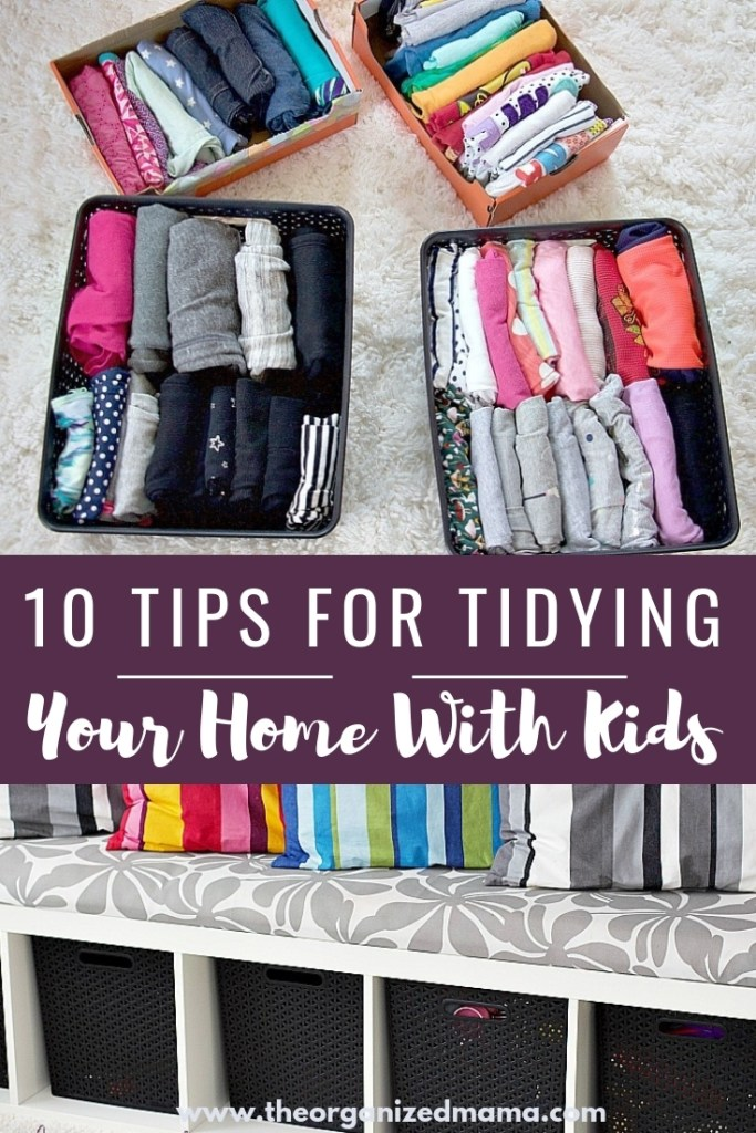 tidying up with kids. learn how to organize your home with young kids so that it will last! #tidying #organizing