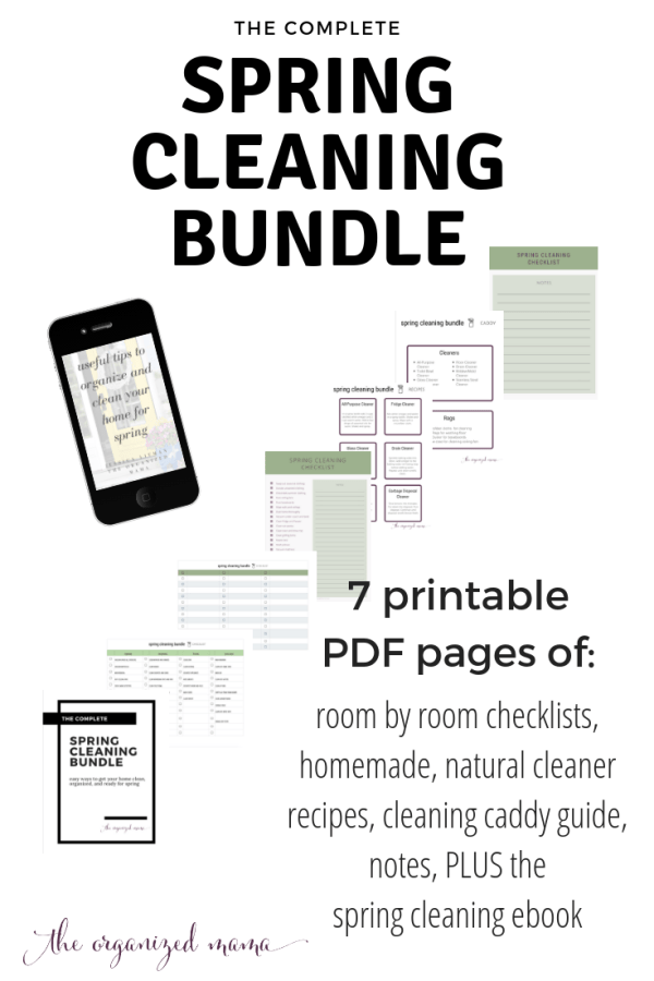 Who doesn't love a good checklist? This housekeeping checklist is perfect for spring cleaning, with a giant list of things to clean and organize! #springcleaning #springcleaningbundle #checklists