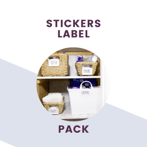 sticker label pack graphic and text