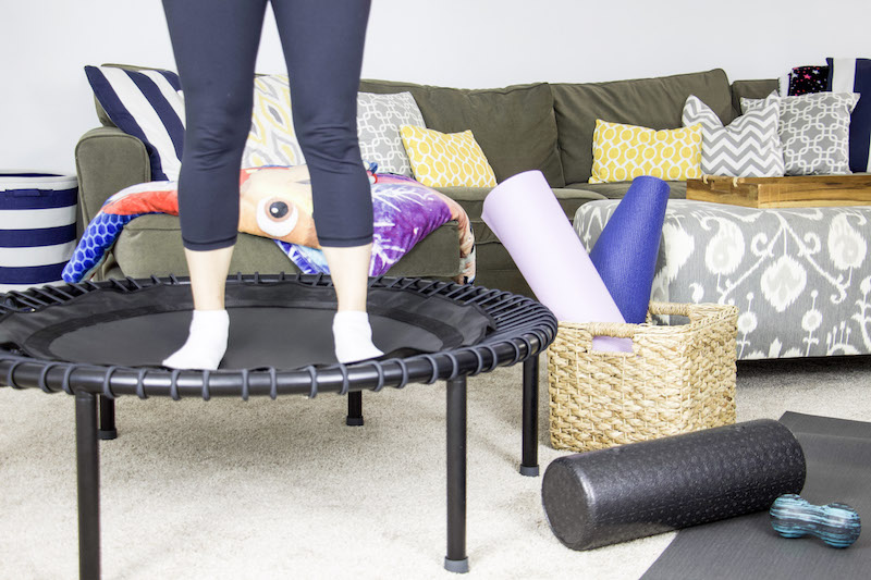 working out on bellicon rebounder
