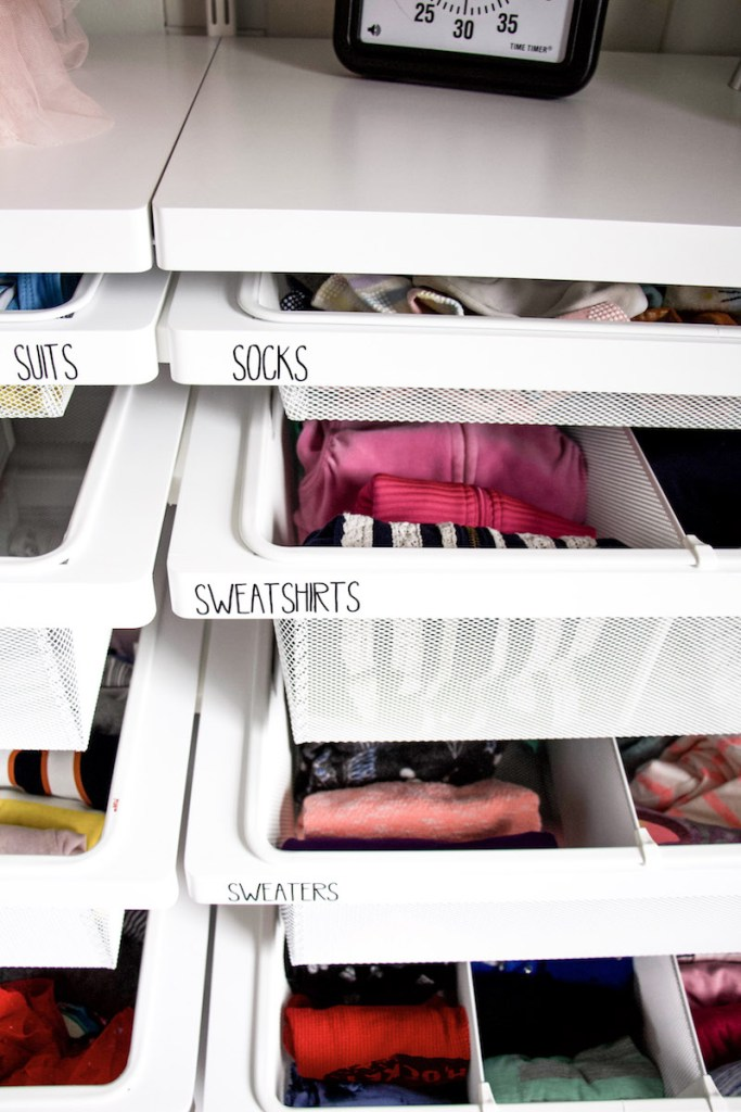 labeling kids dresser drawers