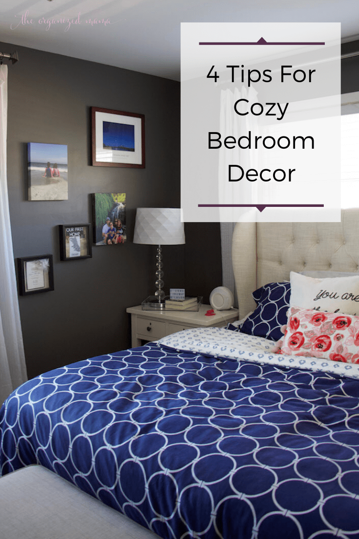 how to get a better night sleep with cozy bedroom decor overlay of master bedroom