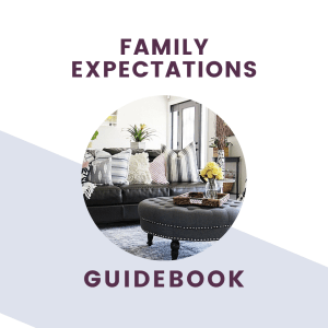 family expectations guide book graphic and text